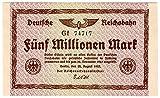 Banknoten Fünf Millionen Mark, Deutsches Reich, 1923, Nr. 74717