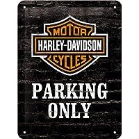 Nostalgic-Art Harley-Davidson - Señal de Aparcamiento Lata Solamente, 15 x 20 cm
