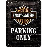 Nostalgic Art 26117 Harley Davidson Parking Only-Motorcycle Small Metal Sign 15 x 20 CM