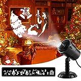 Weihnachten 3D Projektor Lichter, MeeQee Christmas LED Rotierenden Urlaub Projektor Strahler mit Fernbedienung Wasserdichte Landschaft Lampe Outdoor Indoor Dekorative Licht für Festival Party