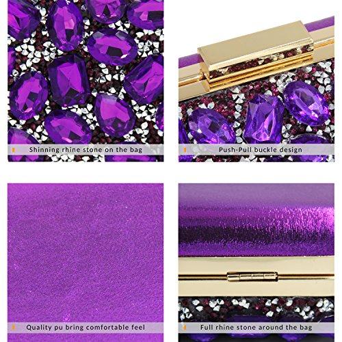 Milisente - Borsa a tracolla donna Purple