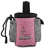 Vicstar Futterbeutel für Hunde - Leckerlitasche Snack Bag mit Clip & Lasche - Futtertasche für Hundetraining und Ausbildung - Wasserfest