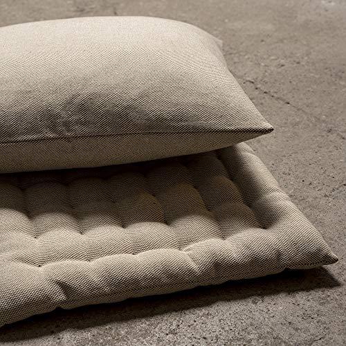 LINUM Sitzkissen PEPPER G06 beige 40cm x 40cm x 4cm, Dekokissen, Kissen, Wohntextilien - 7