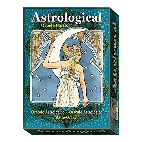 Art Nouveau Astrological Oracle Par Antonella Castelli, 22 Cartes Et Instruction Multilingue