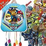 Pinata Set: * PAW PATROL * mit Pinata + 100-teiliges Süßigkeiten-Füllung No.1 von Carpeta© // Spanische Zugpinata für bis zu 7 Kinder. Tolles Spiel für Kindergeburtstag