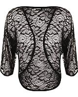 WearAll - Cardigan court avec dessin floral avec manches mi-longues - Cardigans - Femmes - Grandes tailles 42 à 52