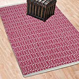#8: The Home Talk Pink Rectangle Shape Handmade Cotton Rug, for Living Room / Bed Room, 60 x 100 CM