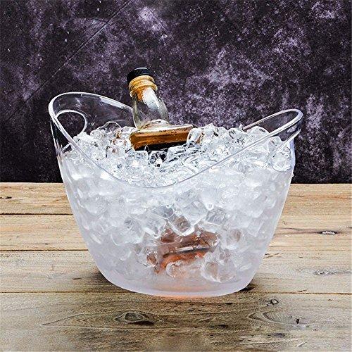 FTC Ice Bucket Transparente Ingot Eiswürfel Champagner Weinfass Eiskübel Weinfass Kunststoff Bierfass, Kleine Transparent