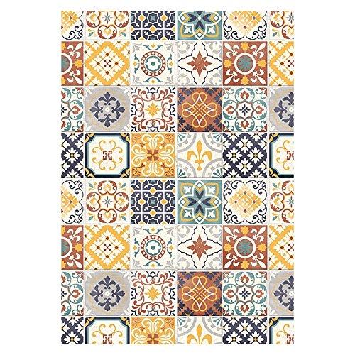 tapis-motifs-carreaux-de-ciment-jaune-45x75cm-toodoo-monbeautapis-polyester-extra-doux