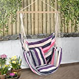Christow Large Garden Hammock Chair Hanging Swing Seat With Cushions Outdoor