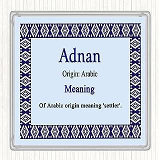 Adnan Name Meaning Drinks Mat Coaster Blue