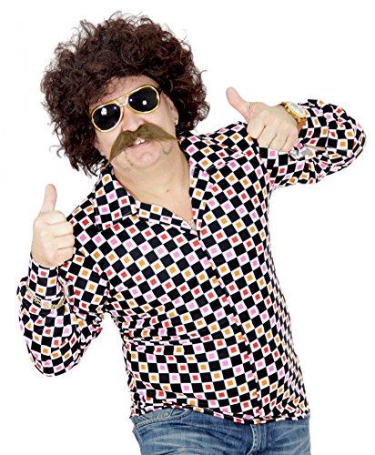 er Perücke und Bart Set für Herren Karneval Fasching Party braun Disco ()