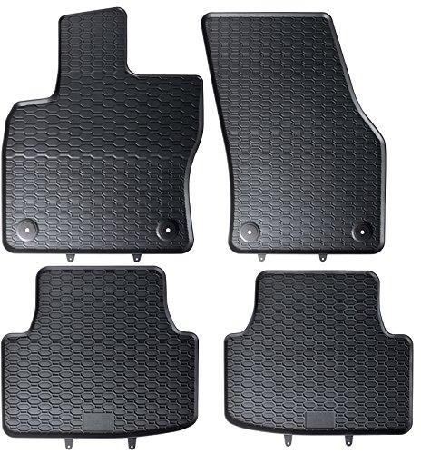 AME - Auto-Gummimatten in schwarz und Wabendesign, Geruch-vermindert und passgenau mit verbauten Befestigungen 879/4C