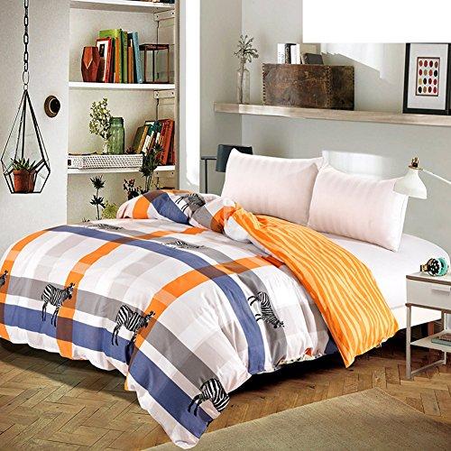 Bettbezug,Student Schlafsaal Baumwolle Twill Tröster abdeckung herbst und winter Tröster abdeckung Bettwäsche (Include:Bettbezug X 1)-C 78.7x90.5inch(200x230cm) - Baumwoll-twill Tröster