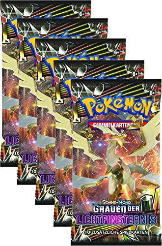 Pokémon Sonne und Mond Serie 6 - Grauen der Lichtfinsternis - 5 Booster Packs - deutsch (Booster Pack Box)