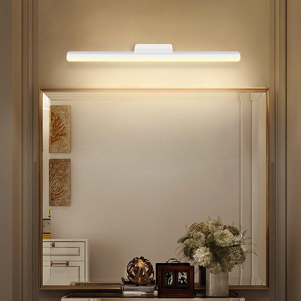 K-Bright applique da parete, illuminazione camera da letto, 18W moderna  luce a specchio a led per camera da letto, bagno, impermeabile IP44,, ...