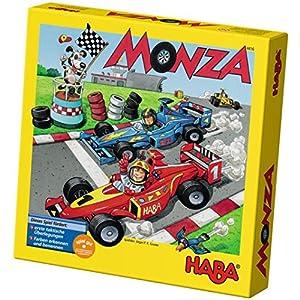 HABA HABA-302247 Monza – ESP (302247), Juego de Mesa de Dados, con una turbulenta Carrera de Coches para 2-6 niños de 5 años, para Aprender los Colores, Multicolor (4416)
