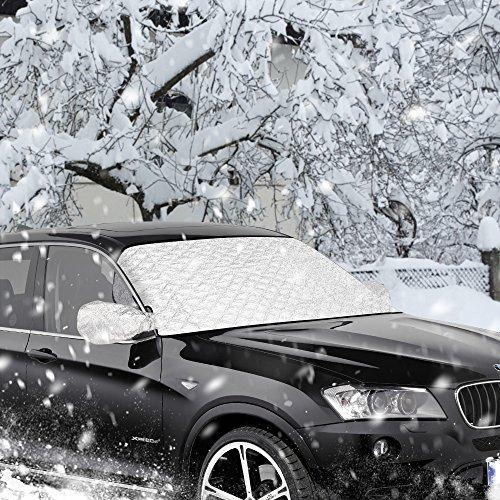 Scheibenabdeckung,Furado Auto Frontscheibe Abdeckung Frostabdeckung Windschutzscheiben Abdeckung Winter, Auto Abdeckung Anti-Schnee Wind Frost Optima für Winter+Sommer (147 x 100 cm)