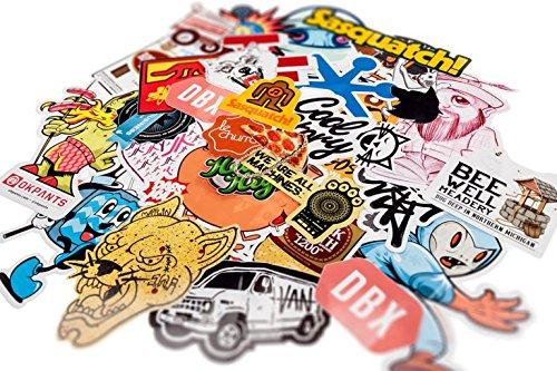 Beyond Dreams 100 Aufkleber Sticker Bomb | Vintage Logo für Notebook Koffer Laptop Auto Stickers | Aufkleberset für Motorrad Fahrrad Helm | Stickerbomb für Skateboard | Wasserfest | Coole Dinge