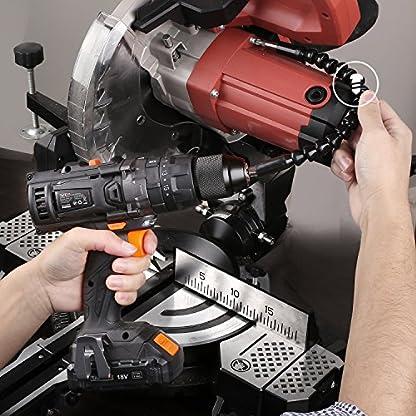 TACKLIFE Taladro Atornillador 18 V, 2 Velocidades Taladro con Percusión a Batería, 2 Baterías de Litio (2.0Ah), 13 mm Portabrocas Automatico 35N.m Par Máximo, 1H Carga Rápida, 43 PCS Gratis, PCD04B