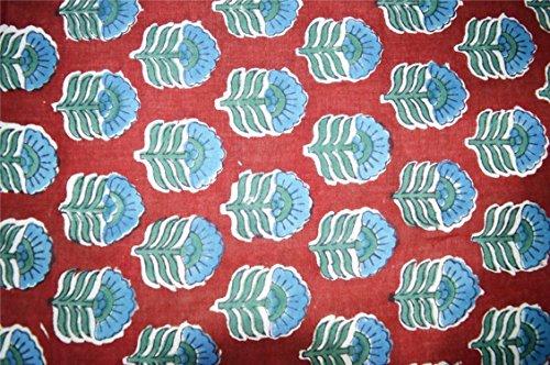 111,8cm larghezza puro cotone 100% sanganeri print corsa tessuto stampato fiorellini morbido tessuto sartoria, arredamento e artigianato tessuto 9,1m venduto da ramdev artigianato