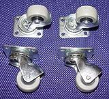 4 Kleine Möbelrollen für Parkett, Laminat Ø 30mm Platte