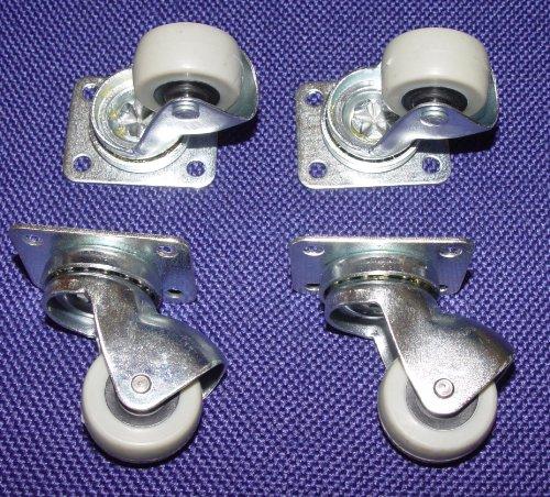 Preisvergleich Produktbild 4 Kleine Möbelrollen für Parkett, Laminat Ø 30mm Platte