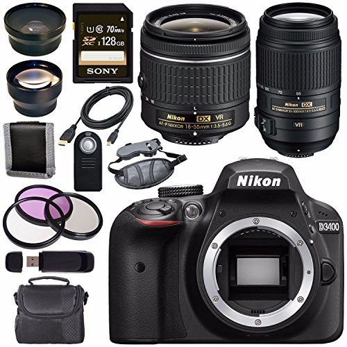 Nikon D3400 DSLR Camera (24.2MP, Black)