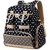All In One Diaper Bag Backpack Waterproof Fabric Baby Bag For Mom And Dad Fit Stroller With Insulated Pocket - Large Capacity 12.6 X 13.4 X 4.8 Inch