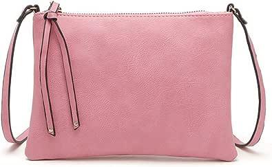 Piccola borsa a tracolla piatta per le donne mini borsa messenger per le ragazze della scuola