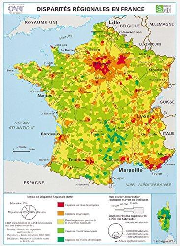 Carte France Disparites/Amenag