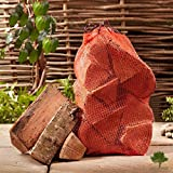 Hardwood Firewood Chunky Logs -Kiln Dried Ash Wood - Large Heavy 30 Litre, 25cm Long, Perfect for Open Fire Stoves, Log Burner, Fire Pits, Pizza Ovens Fast Delivery (1 X 12KG Net)