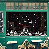 Decorie Christmas Snowflakes Town Window Wall Stickers for Home Decor 60*90cm