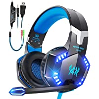 Gaming Headset für PS4 PS5 PC Xbox One,Gaming Kopfhörer mit Mikrofon 3.5mm Surround Sound mit LED Licht Headset für PS4…