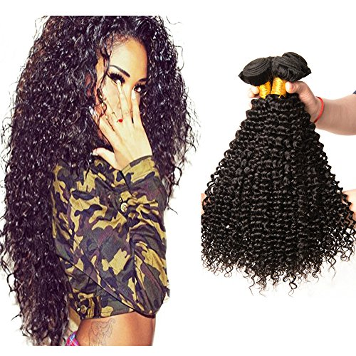 Unprocessed Remy Brazilian Virgin curly hair extensions Human Hair 3 Bundles double weft brasilianisches Jungfrau-Menschenhaar lockige Menschliches Haar, 18 20 22zoll