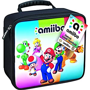 RDS Industries, Nintendo Amiibo Game Traveler Carrying Case – Multi-Color by RDS Industries, Inc