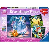 Ravensburger Puzzle, Disney Princess, Puzzle 3x49 Piezas, Puzzle Niños, Edad Recomendada 5+ , Rompecabezas Ravensburger
