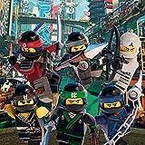 1art1 106991 The Lego Ninjago Movie - Charaktere, Cole, Lloyd, Zane, Jay, NYA, Kai Leinwandbild Auf Keilrahmen 30 x 30 cm