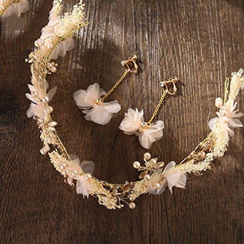 & Coiffe des fleurs de la Couronne guirlande, courroies de coiffure de mariée accessoires de mariage de vacances de bord de mer couronne de couronnes de fleurs ( Couleur : A )