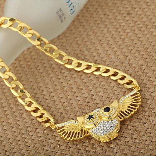 Neoglory Jewellery Swarovski Eléments/Or 14K Forme Chouette Collier Mignon Assortiments En Coffret E