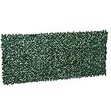 Outsunny Künstliche Hecke Sichtschutzhecke Wanddekoration Pflanzen Hecke Gras Dunkelgrün