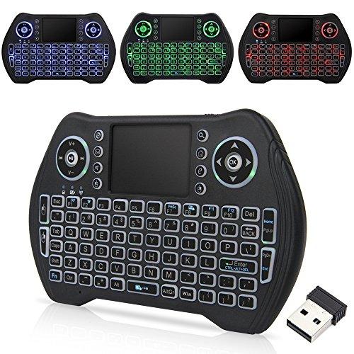Zedo Backlit Mini Wireless Keyboard 2 4G, Handheld Remote