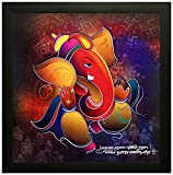 SAF 'Ganesha' Painting (Wood, 30 cm x 3 cm x 30 cm, Special Effect Textured, SAO97)
