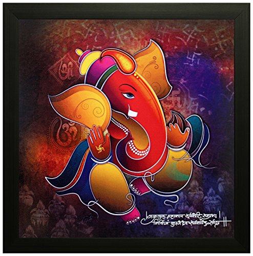 SAF 'Ganesha' Painting (Wood, 30 cm x 3 cm x 30 cm,...