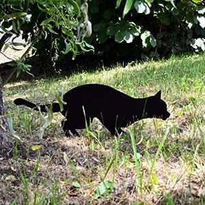 Épouvantail Chat à planter dans le jardin