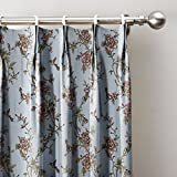 """ChadMade Spring Pink Flowers Country Curtains 66"""" W x 102"""" L, Pinch Pleat Blackout Lining Darpes Panel For Bedroom Living Room Hotel Restaurant (1 Panel)"""