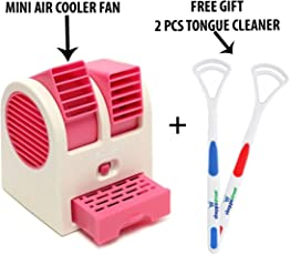 ShoppoStreet Mini Fan & Portable Dual Bladeless Small Air Conditioner Water Air Cooler Powered By Usb