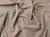 Minerva Crafts Inlett Streifen Weich Baumwolle Kleid Stoff rot &, Meterware, Elfenbeinfarben