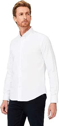 KIGILI Men's Shirts Long Sleeve Slim Fit Premium Cotton Oxford Casual Non Iron Made in Turkey