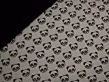 0,5m Jersey kleine Panda grau & 0,5m uni Jersey schwarz